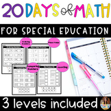 20 Days Of Math For Special Education