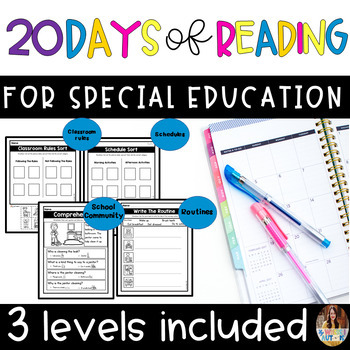 First 20 Days Of Reading Worksheets Teaching Resources TpT