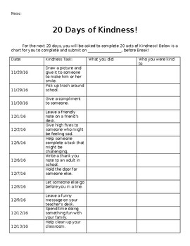 20 Days of Kindness!