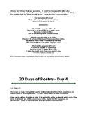 20 Days of Poetry - 1 Different Poem w/ Instructions for e