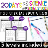 20 Days of Science and Social Studies For Special Education