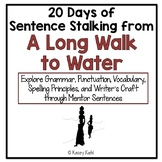 20 Days of Sentence Stalking from A Long Walk to Water by Linda Sue Park