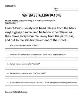 20 Days of Sentence Stalking from Counting by 7s by Holly Goldberg Sloan
