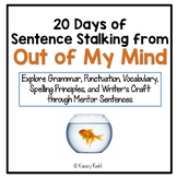 20 Days of Sentence Stalking from Out of My Mind by Sharon Draper