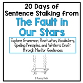 20 Days of Sentence Stalking from The Fault in Our Stars by John Green