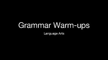 20 Days of Warm-Ups in Language Arts
