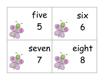 20 Different Sets of Numbers/Number Words 1-20