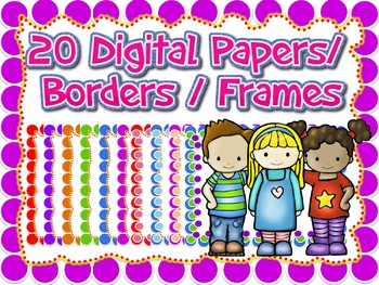 1 dollar - 20 Digital Papers / Borders / Frames for your Main Cover