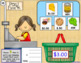 Digital Task Cards for Google Classroom: Grocery Shopping (Adding Money)