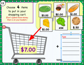 Google Classroom Math Activities | GROCERY STORE | ADDING MONEY |