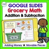 Google Classroom Math Activities GROCERY STORE ADDITION & ADDING MONEY