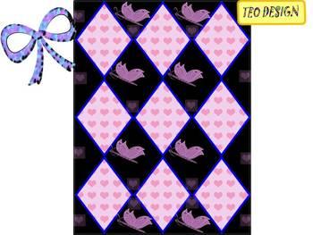 Digital paper - Ribbons - Clip Art