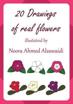 20 Drawings of real flowers