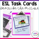 20 ESL Task Cards for Vocabulary Development with real ima