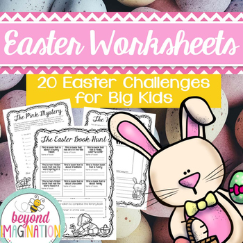Easter Activities Printable Easter Challenges for Third Fourth and Fifth Grade