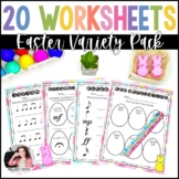 20 Easter Worksheets for Elementary Music Students - Notes, Rhythms, Symbols