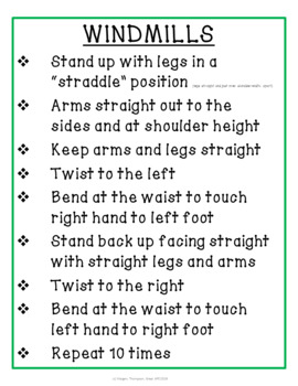 20 Easy Exercises for Classroom Movement Breaks, Warm-Ups, or Stations
