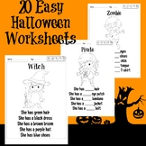 20 Easy Halloween Coloring Worksheets