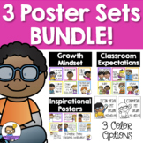 Growth Mindset Posters, Inspirational & Classroom Expectations Posters BUNDLE!