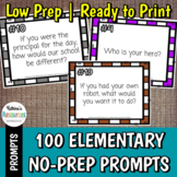 100 Elementary Prompts for Journals, Morning Message, and More!