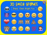 20 Emoji Clipart Graphics