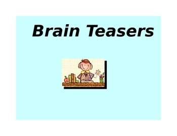 Fun Creative 'Must Have' Brain Teasers / Puzzle Package - Grade 4 5 6