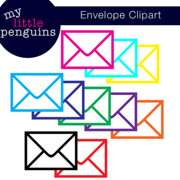 20 Envelope Clipart (personal or commercial use) 300 ppi resolution
