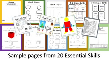 20 Essential Skills-Shapes, Drawing, Building, Following Models