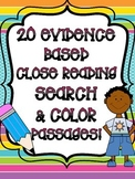 20 Evidence Based Search and Color Close Read Activities!