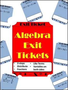 Solving Equations Exit Tickets