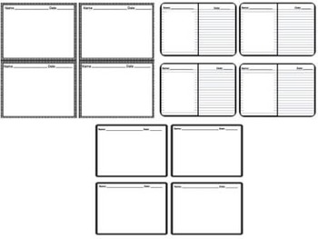 20 Exit Tickets Task Cards Templates for all subjects grades CCSS ELA Math