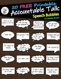 20 FREE Accountable Talk Speech Bubbles