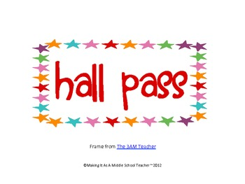 20 FREE Hall Pass Signs ~ Various Designs by Making It Teacher | TpT