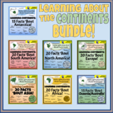 Learning the Continents - 20 Facts - Bundle!