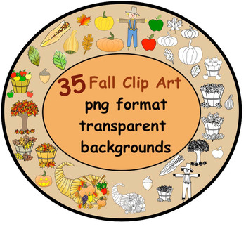 35 Fall Clip Art in Png format with transparent backgrounds