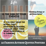 20 Famous Author Quotes Posters