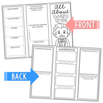 Famous Composers Brochure Projects Activity, Foldables, Music History