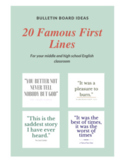 20 Famous First Lines Posters
