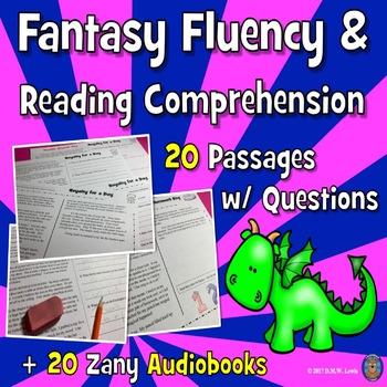 20 Fantasy Reading Comprehension Passages: Summer Reading