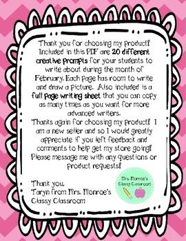20 February Creative Writing Prompts