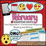 20 February Reading Passages - Google Classroom Activities & Pdf / Emojis