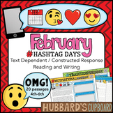 20 February Reading Passages Bundle - Google Classroom Activities & Pdf / Emojis