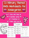20 February Themed Math Worksheets for Kindergarten