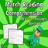 20 Fiction March Reading Comprehension Passages: Close Rea