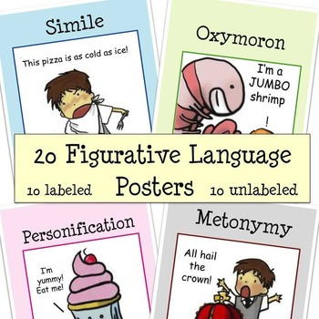 Figurative Language Posters - 20 posters
