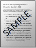 20 Financial Literacy Writing Prompts & Discussion Questions 8-12