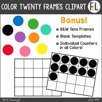 Twenty Frames Clipart - Basic Colors