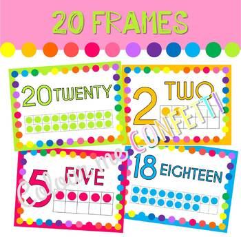 20 Frames - Colour me Confetti