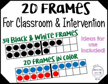 20 Frames ~ For Classroom or Intervention