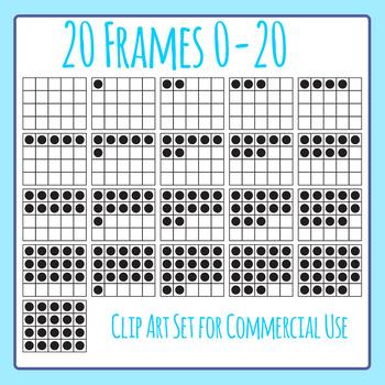 20 Frames / Twenty Frames Clip Art Set for Commercial Use